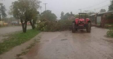 Un tornado afectó a Subteniente Perín