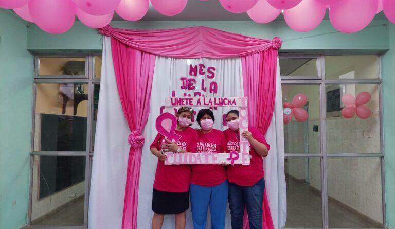Ibarreta: Colorida zumba dio cierre a la agenda del mes de lucha contra el cáncer de mama